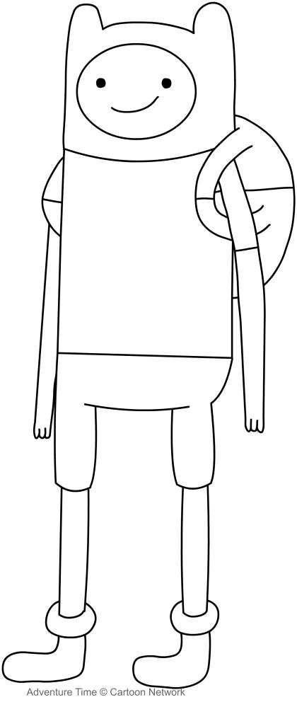 Dibujo de Finn el aventurero (어드벤처 타임) 파라 임리 칼라