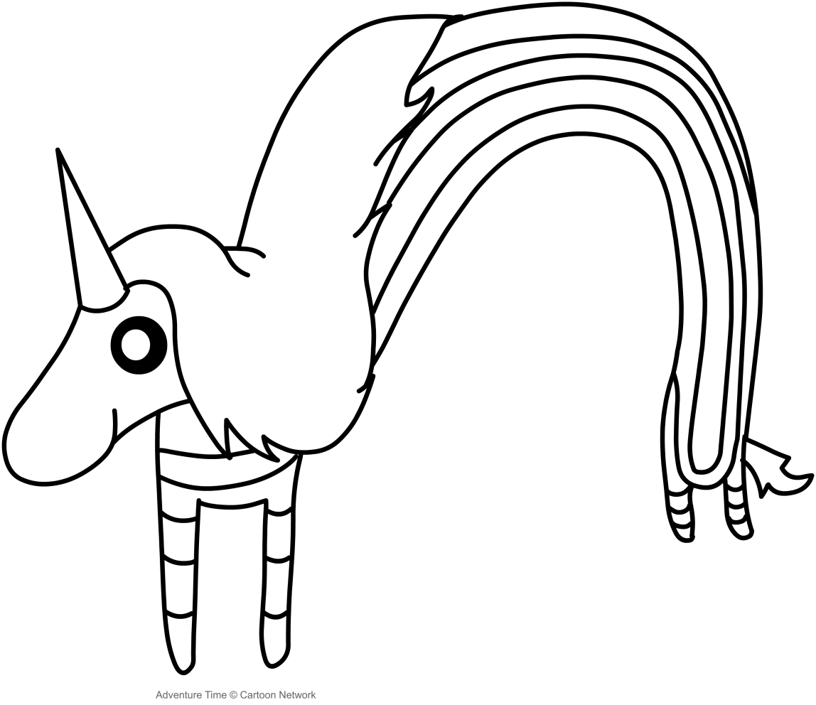 Dibujo de Lady Arcoiris (Adventure Time) para colorear