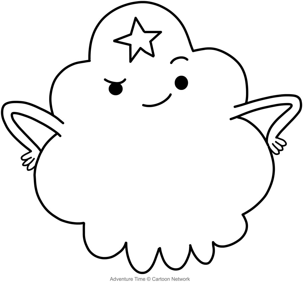 Dibujo De La Princesa Bultos Adventure Time Para Colorear