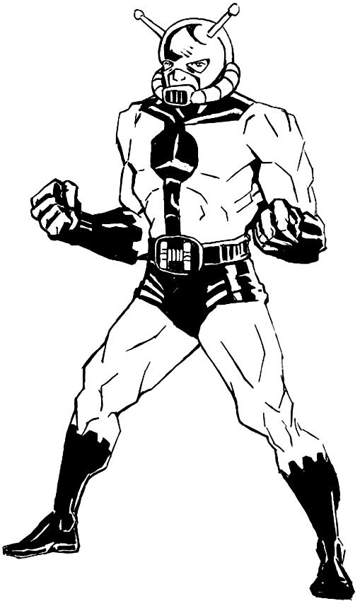 Dibujo De Ant Man En La Versión Comics Para Colorear
