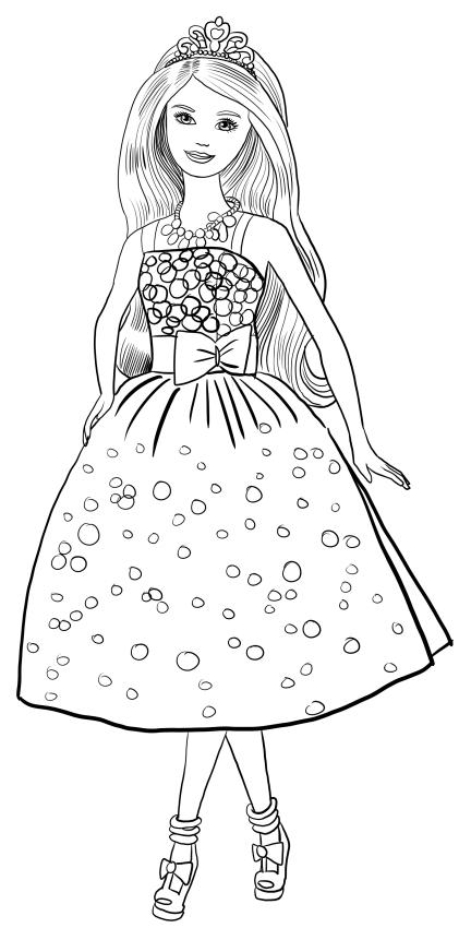 Dibujo de Barbie fiesta de cumpleaños para colorear