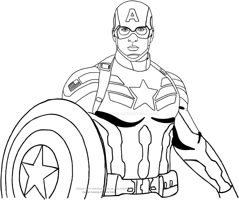 Moderno Dibujos Para Colorear Capitán América Guerra Civil Motivo ...