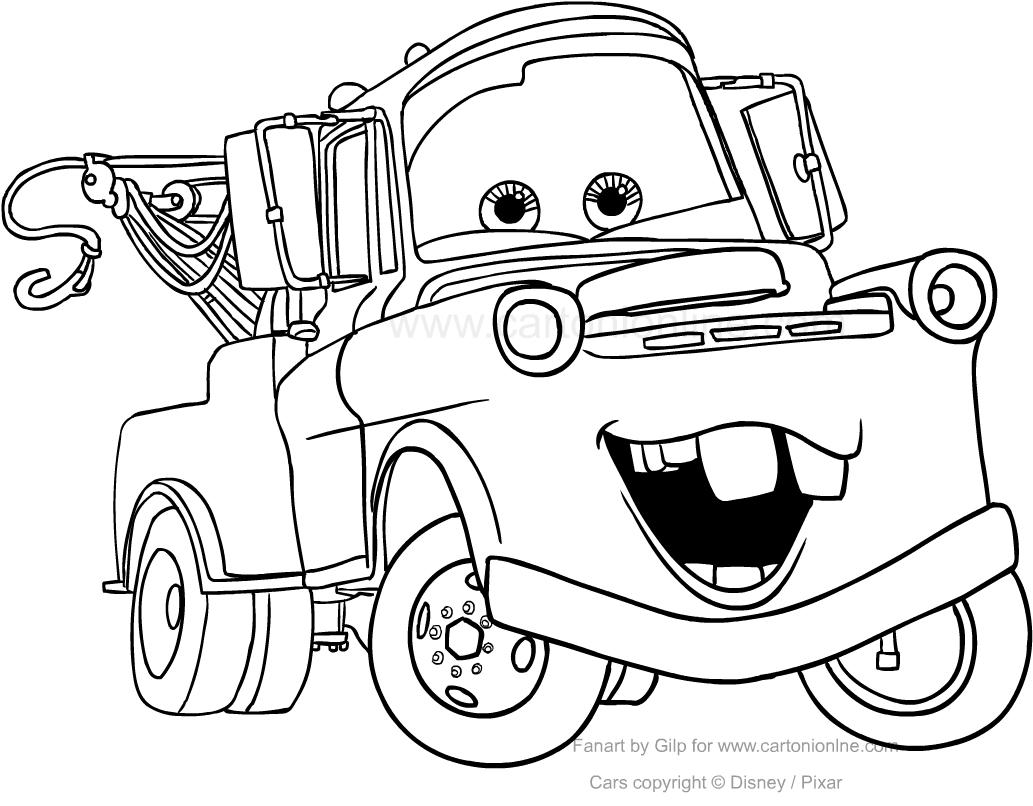 Dibujo De Tow Mater De Cars Para Colorear