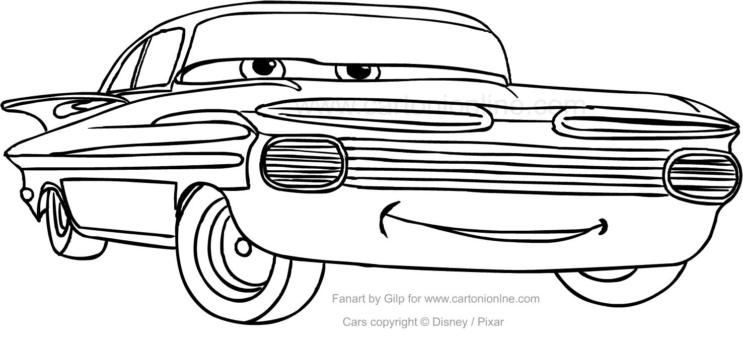 Cómo Dibujar Y Colorear A Rayo De Los Cars 3 Disney: Dibujos De Personajes De Cars Para Imprimir