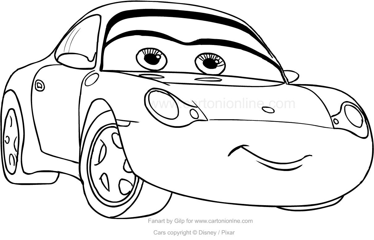 Dibujo De Sally Carrera De Cars Para Colorear