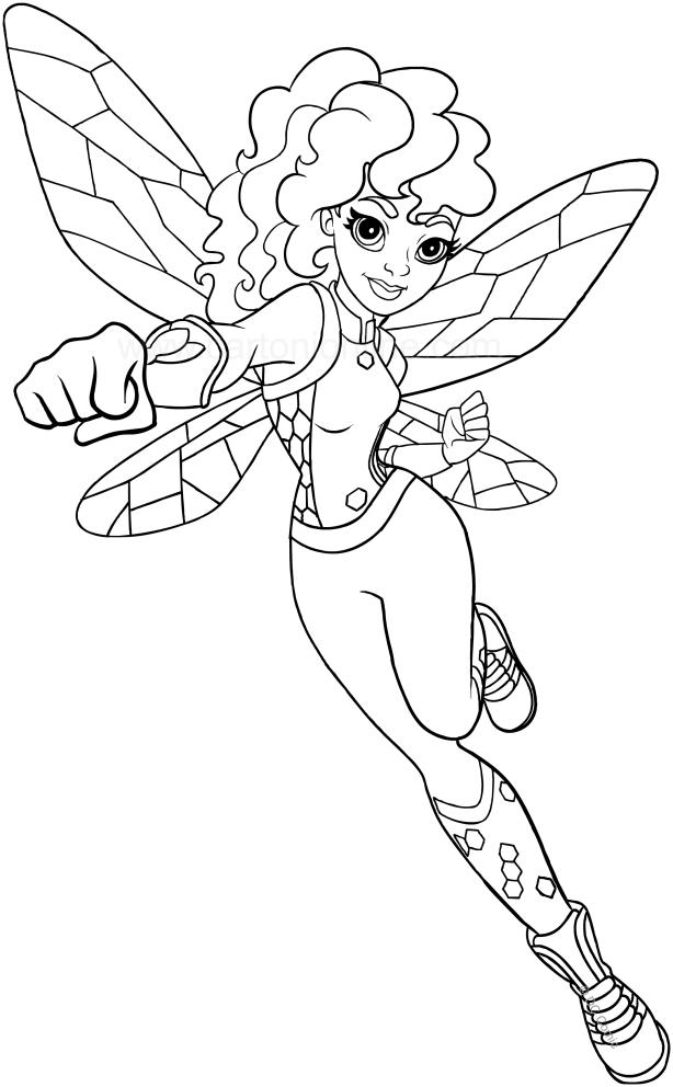 Dibujo De Bumblebee Dc Superhero Girls Para Colorear