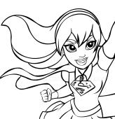 Dibujos Delle Dc Superhero Girls Para Colorear