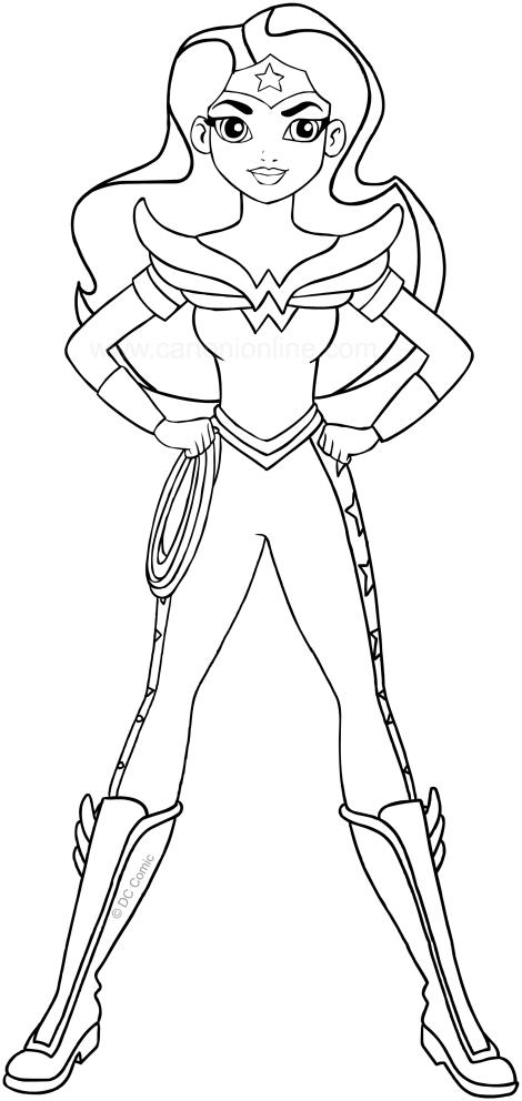 Dibujo De Wonder Woman Dc Superhero Girls Para Colorear