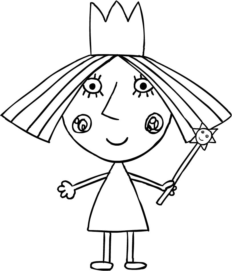 Dibujo De La Princesa Holly El Pequeno Reino De Ben Y Holly Para