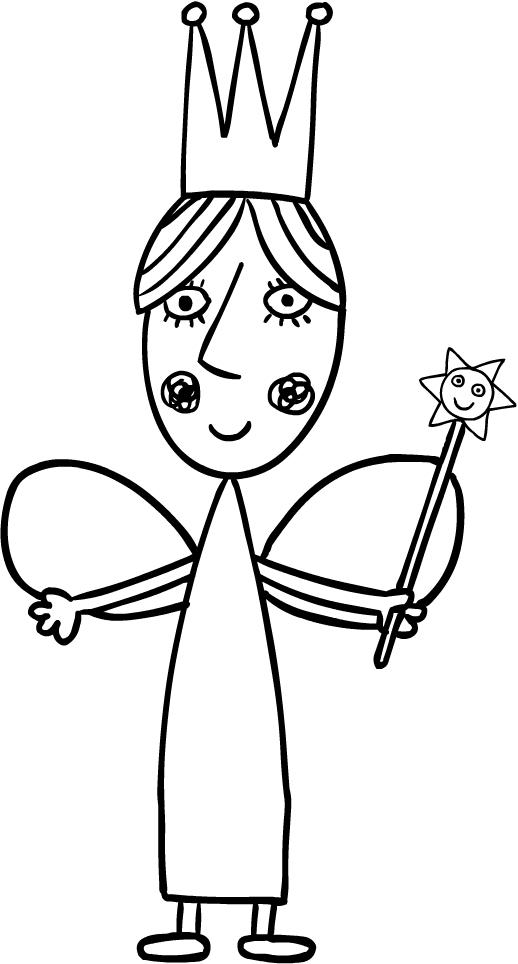 Dibujo de Reina Cardo, la madre de Holly (El Pequeño Reino de Ben y ...