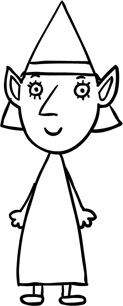 Dibujo de la señora Elfo, la madre de Ben (El Pequeño Reino de Ben y ...