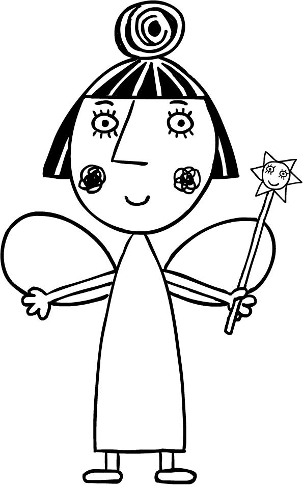 Dibujo de Nana Ciruela (El Pequeño Reino de Ben y Holly) para colorear