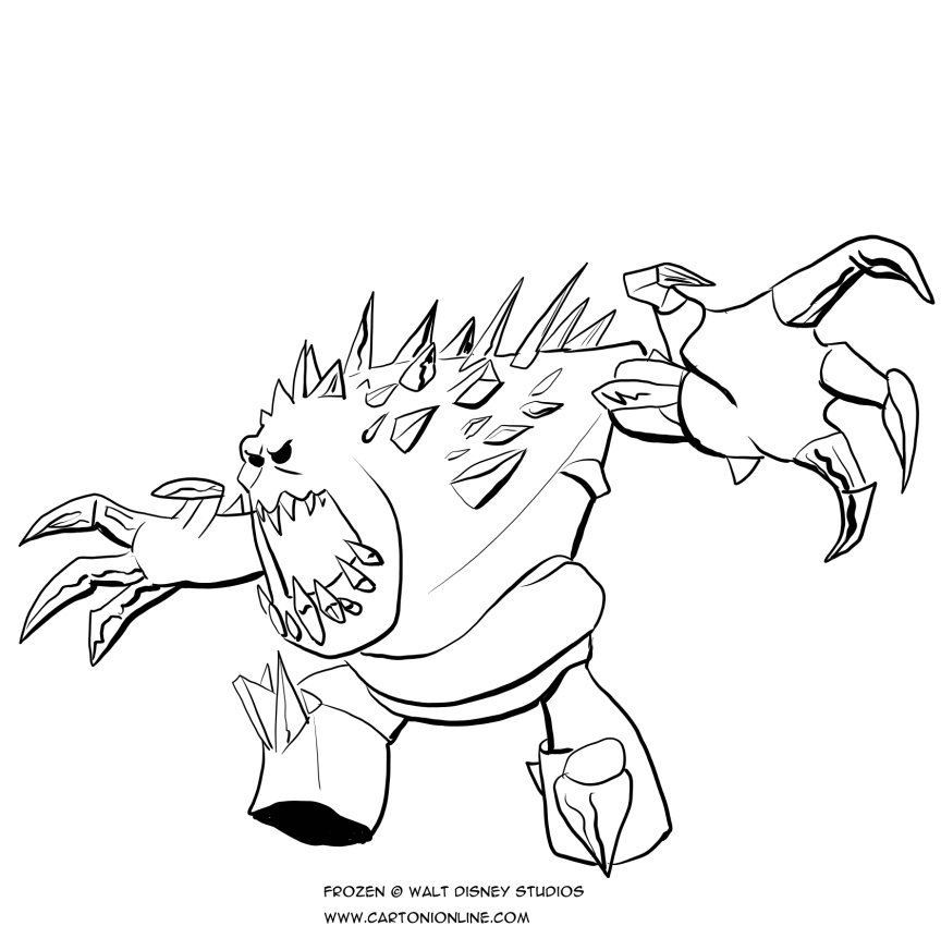 Dibujo de el monstruo de hielo para colorear