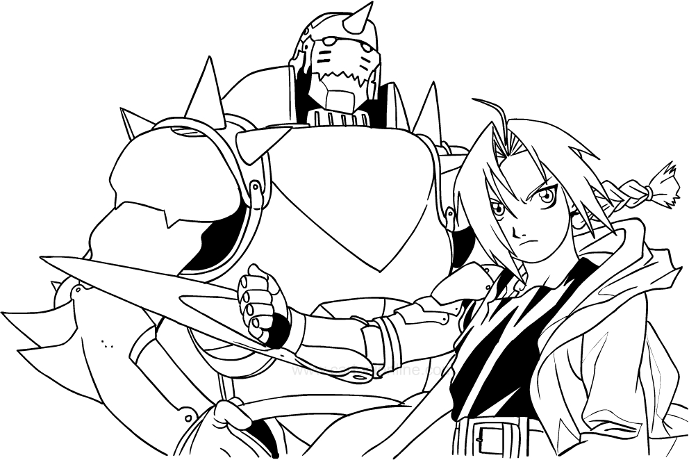 Dibujos de Fullmetal Alchemist para colorear