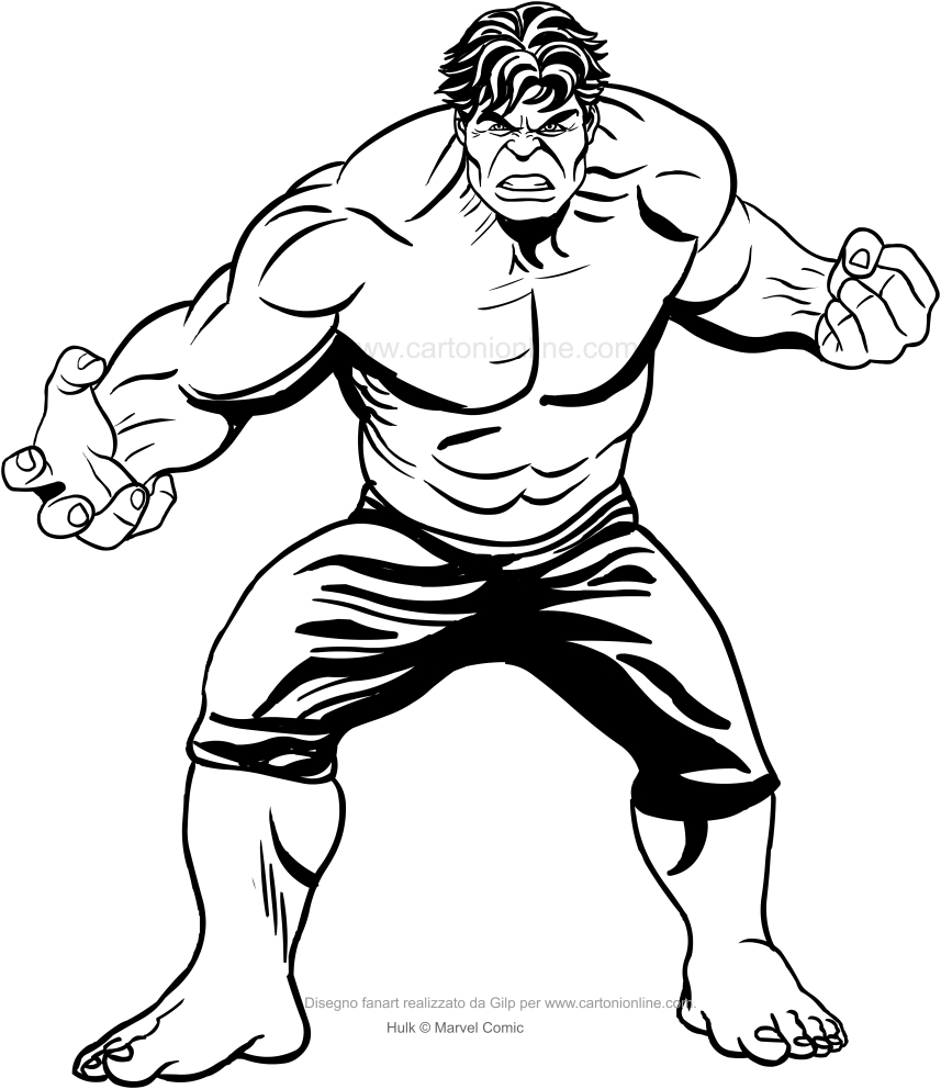 Dibujo De Hulk (de La Película) Para Colorear