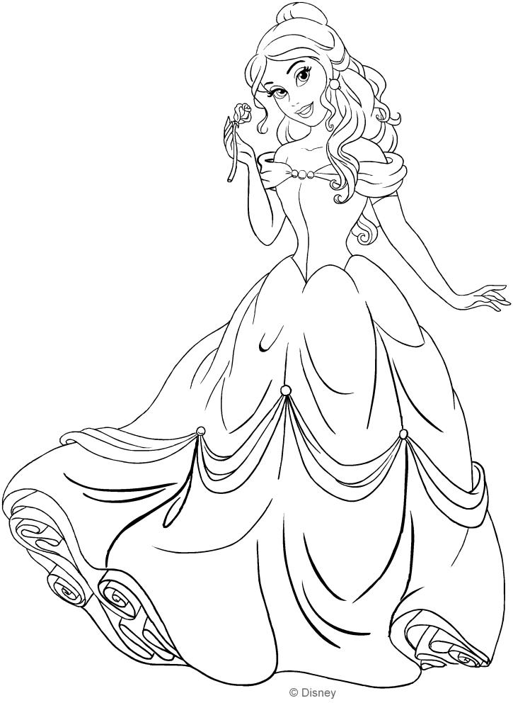 Dibujo de Belle (La bella y la bestia) para colorear