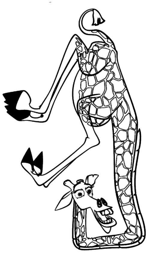 Dibujos De Melman La Jirafa Di Madagascar Para Colorear
