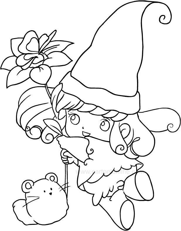 Dibujo de La peque a Memole para imprimir y colorear