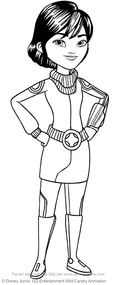 Dibujo De Phoebe Callisto Miles Del Futuro Para Colorear
