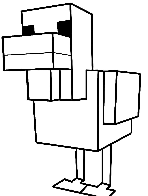 Dibujos De Pollo Di Minecraft Para Colorear
