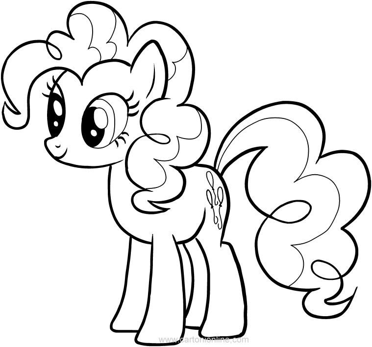 Dibujo de Pinkie Pie de las My Little Pony para colorear