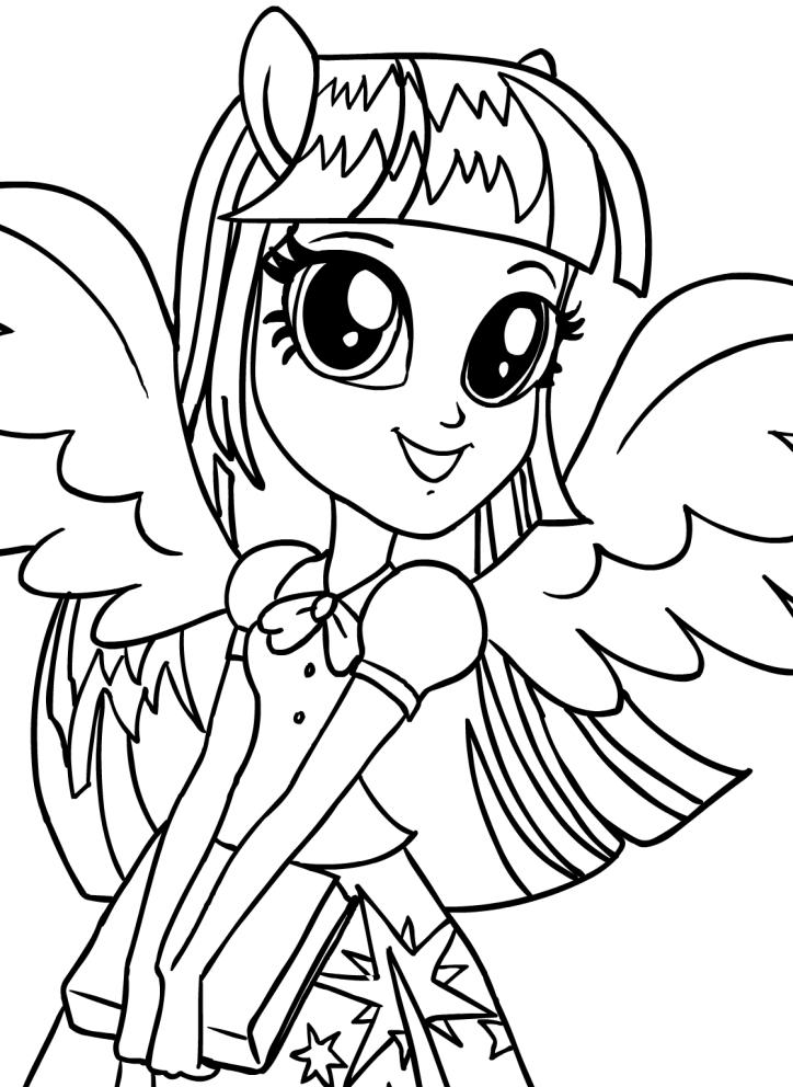 Dibujo de twilight sparkle equestria girls de la cara - Pony da colorare in immagini ...