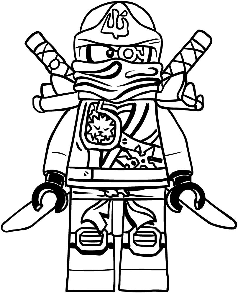 Dibujo de Zane de los Ninjago para colorear