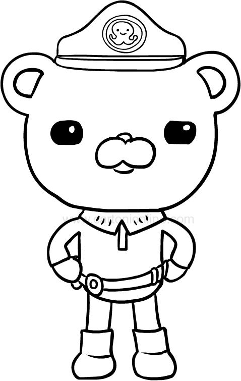 Dibujo de Capitán Polar de Los octonautas para colorear