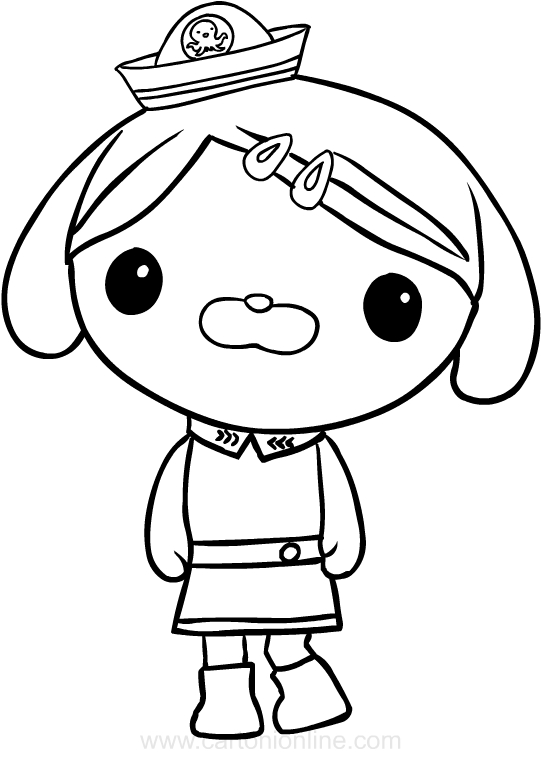 Dibujo de Dashi el perro de Los octonautas para colorear