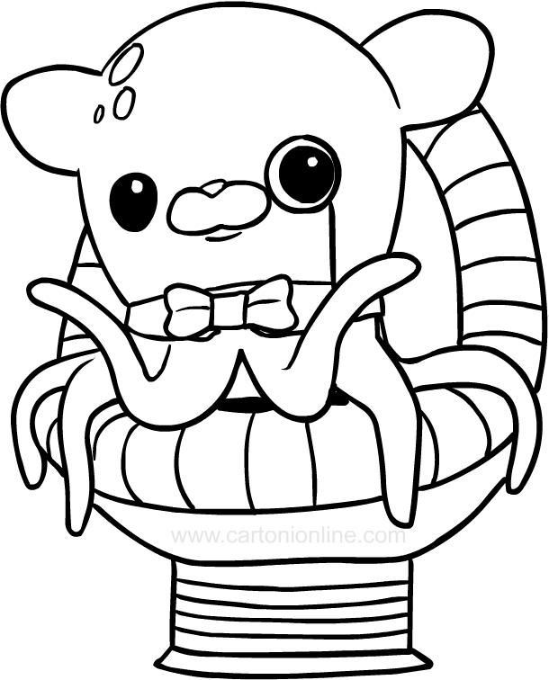 Dibujo de Profesor Sabedor, el pulpo de Los octonautas para colorear