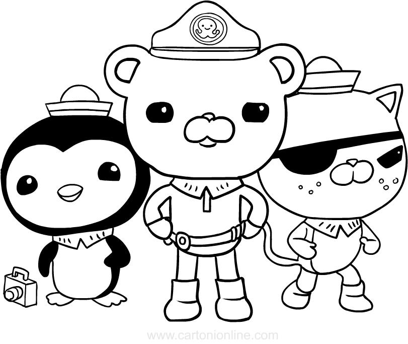 Dibujo de Los octonautas para colorear