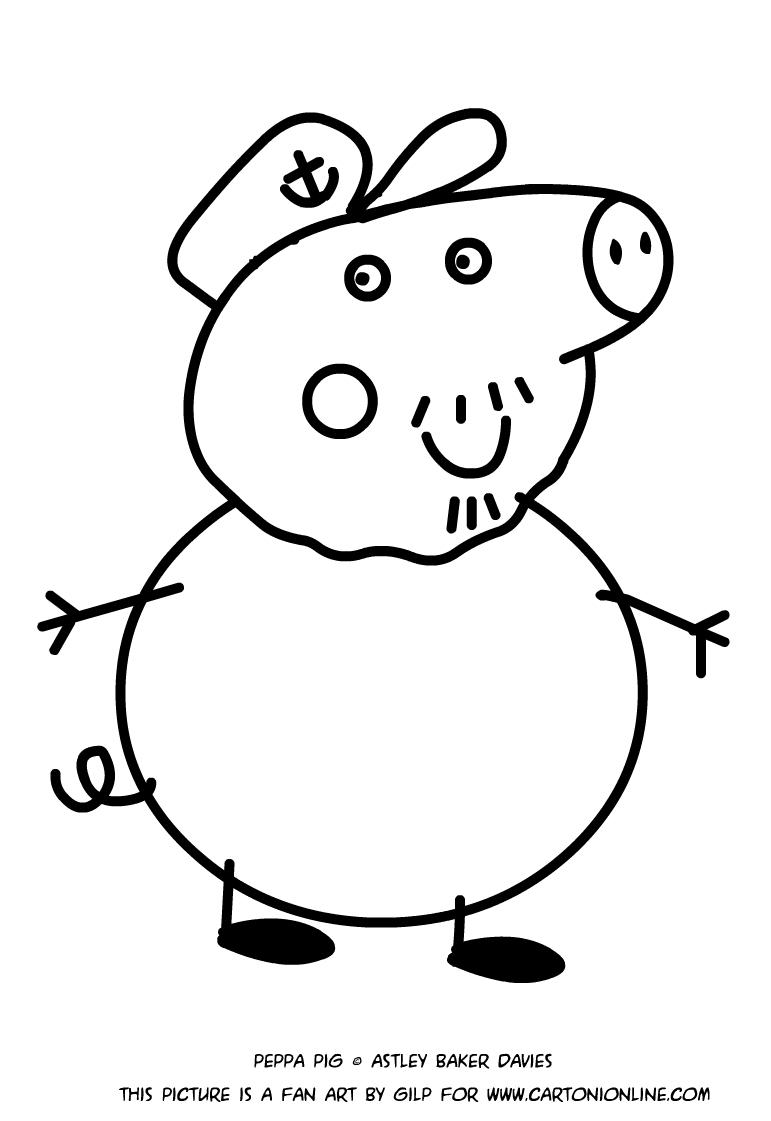 Dibujo De Abuelo Pig Para Colorear