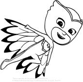 Dibujo de Buh ta en vuelo