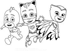 Dibujo voor de kleuren van PJ Masks - Super Pyjamas