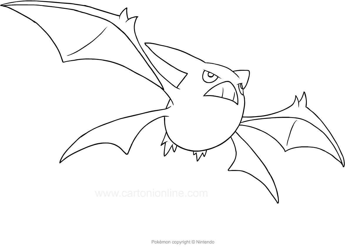 Dibujo de Crobat de los Pokemon para colorear