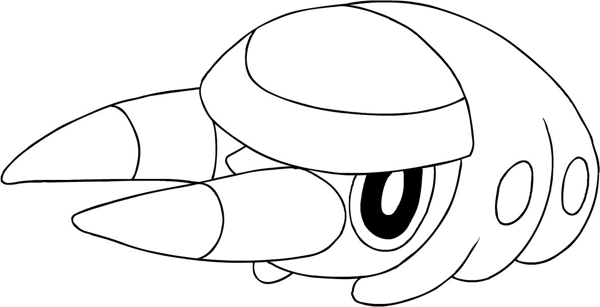 Dibujo De Grubbin De Los Pokémon Sol Y Luna Para Colorear