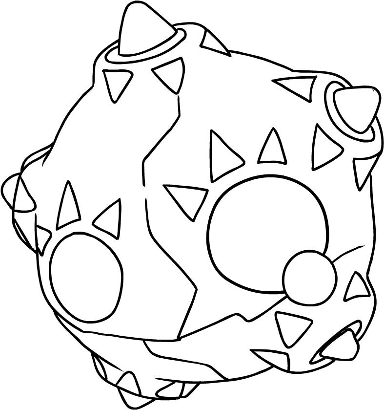 Dibujo de Minior de los Pokémon Sol y Luna para colorear
