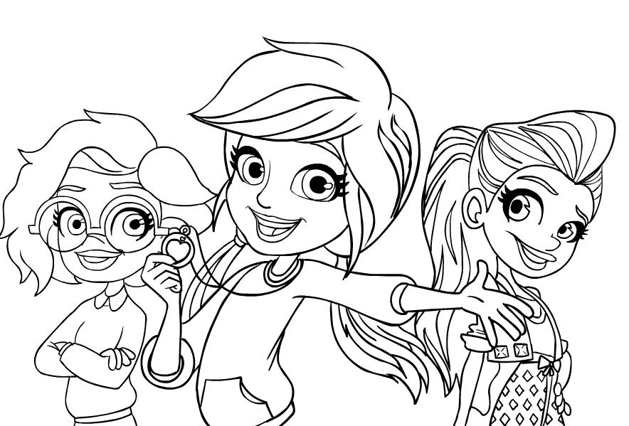 Dibujos De Polly Pocket Y Her Amigos Para Colorear