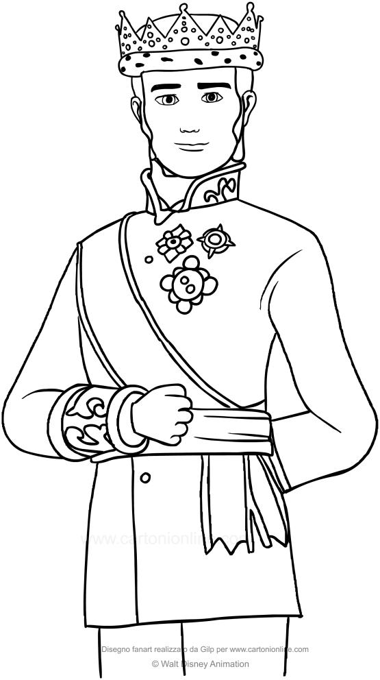 Dibujo De Rey Roland Ii La Princesa Sofía Para Colorear