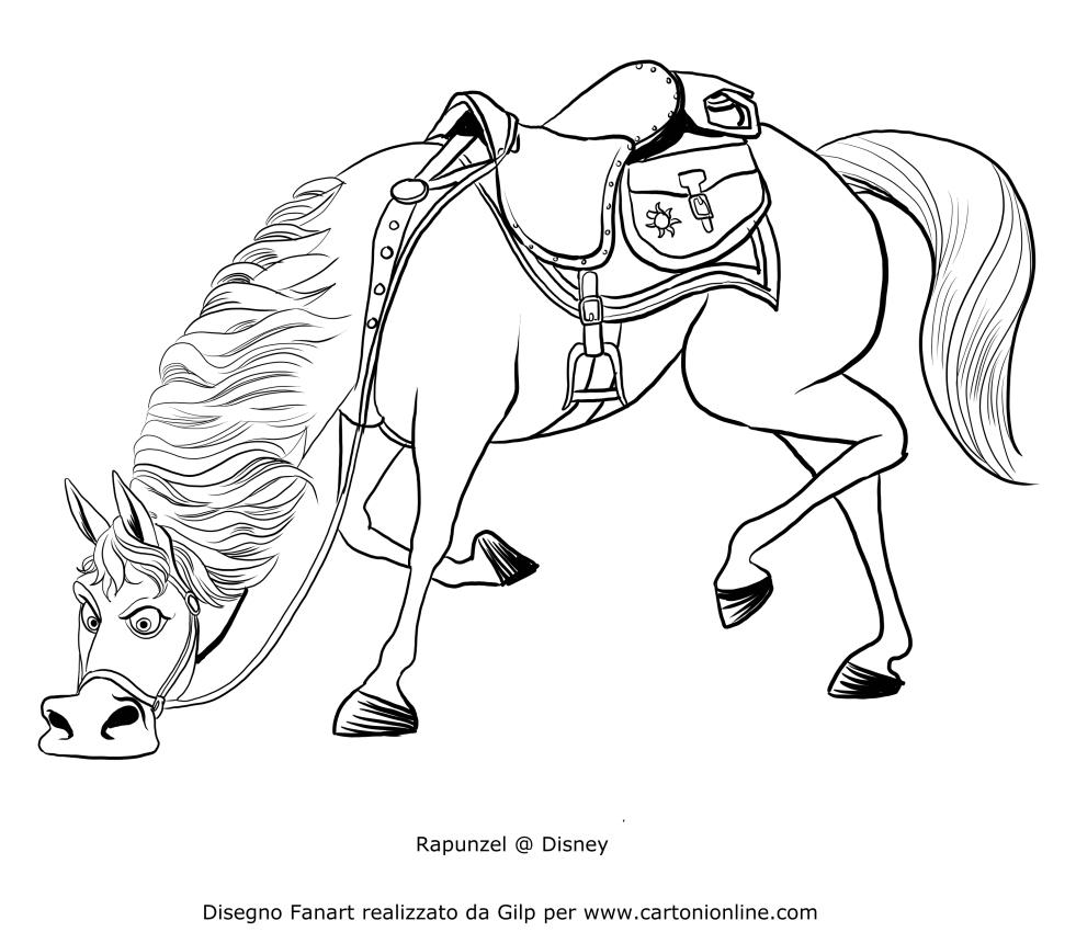 Dibujo de Maximus olfateando a Flynn para colorear