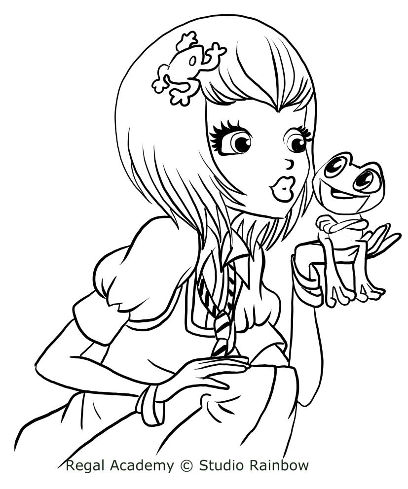 Dibujo de Joy Rana de Regal Academy para colorear