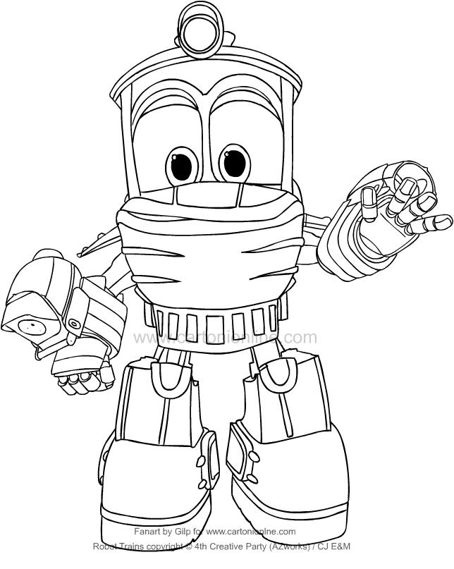 Dibujo De Duck De Robot Trains Para Colorear
