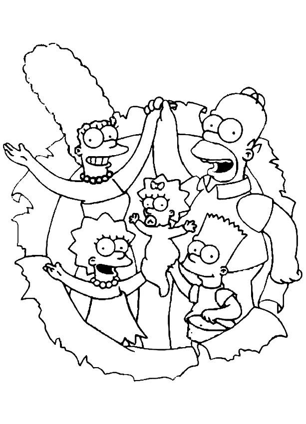 Dibujos De Los Simpsons Para Colorear