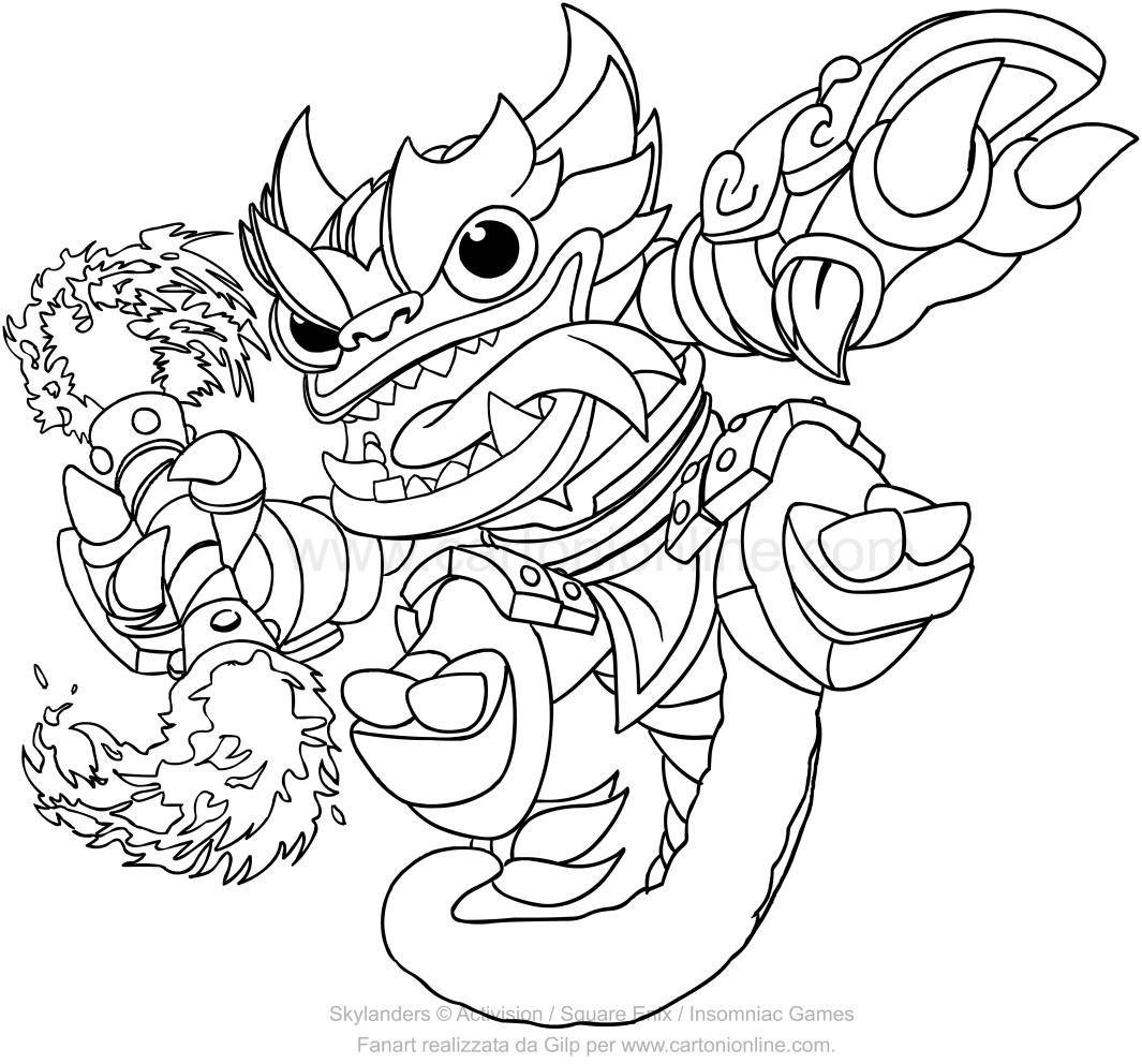 Dibujo De Skylanders Swap Force Fire Kraken Para Colorear
