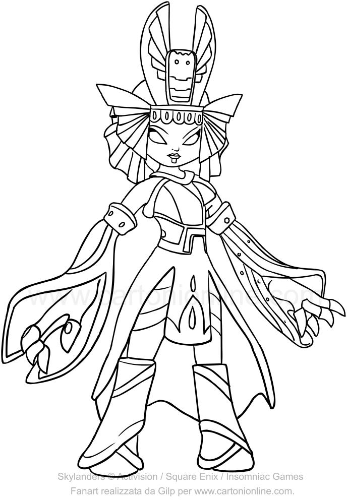 Dibujo de Skylanders Trap Team Golden Queen para colorear
