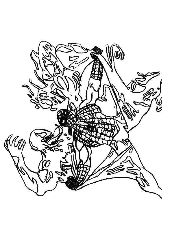 Dibujo de spiderman contra venom para colorear for Spiderman da colorare on line