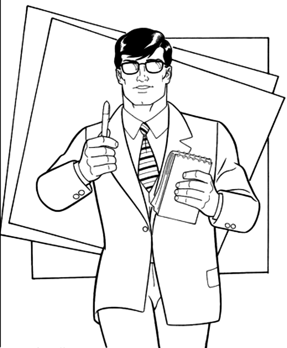Dibujo De Clark Kent Para Colorear