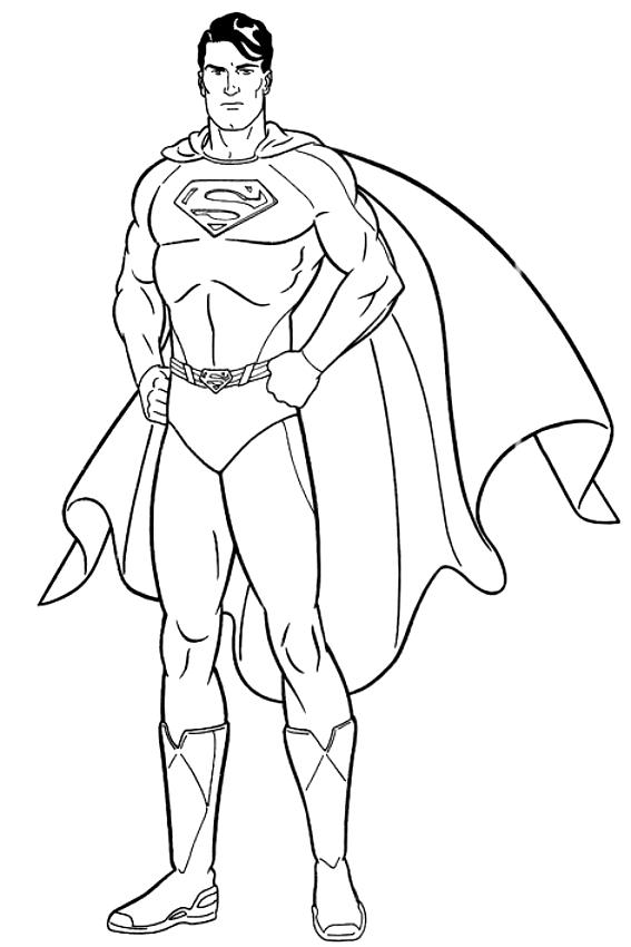 Dibujo de Superman para colorear