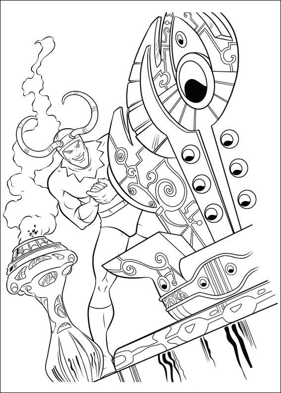 Dibujo De Loki Medio Hermano Y Enemigo De Thor Para Colorear