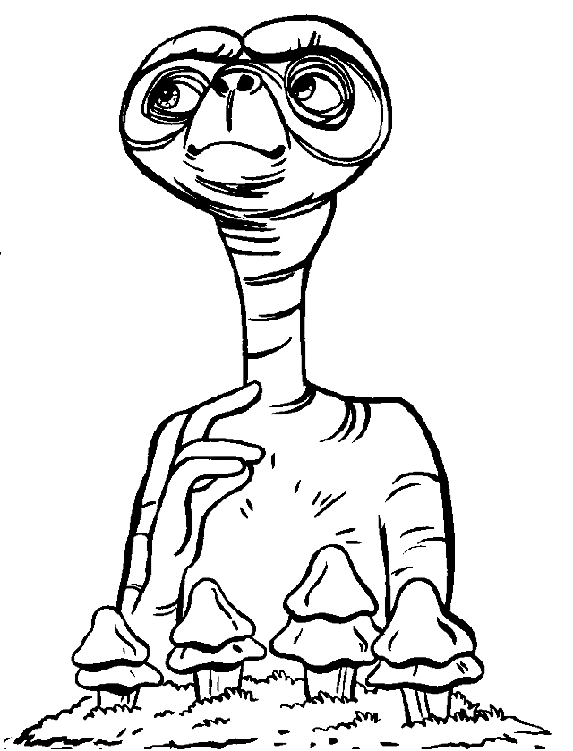 Drawing 8 Aliens and Martians coloring page to print and coloring